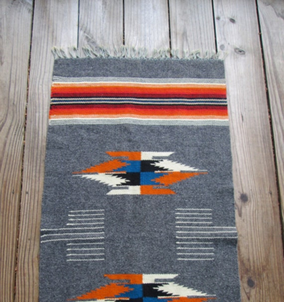 Southwest Woven Wool Throw Rug