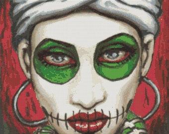 Modern Cross Stitch by Shayne of the Dead 'Marie' - Sugar Skull CrossStitch kit