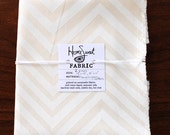 """Two Small Block Printed Fabric Remnants- 13"""" x 12"""", 10"""" x 11"""""""