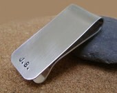 Money Clip - Personalized Hand Stamped Custom Money Clip - Groomsmen Gift - Mens Gift