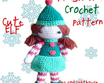 Amigurumi Crochet PDF Pattern - Christms Elf girl