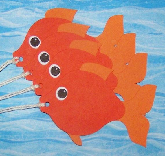 Die Cut Fish Pet Goldfish Goldfish Paper Piecings