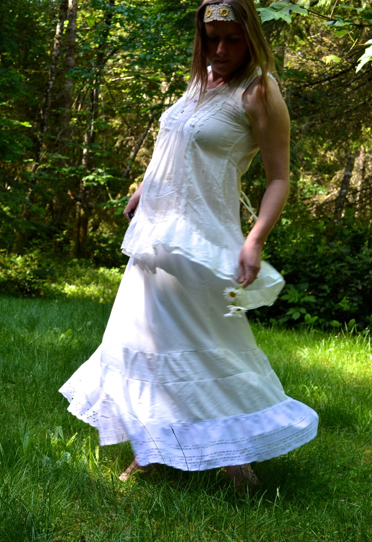 boho summer half slip extender maxi skirt petticoat