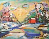 Abstract Painting Fine Art Original Acrylic Canvas Landscape