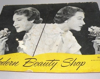 1951 Modern Beauty Shop Magazine with many Hair Styles