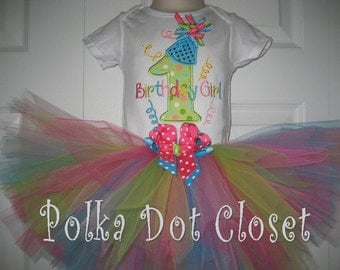 Baby girl Birthday circus tutu set, First birthday tutu set, carnival, cake smash outfit
