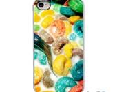 On Sale! Fruit Loops Breakfast Cereal White or Black Sides iPhone Case - IPhone 4, 4S, 5, 5S, 5C Hard Cover - Fun Art Trendy - artstudio54