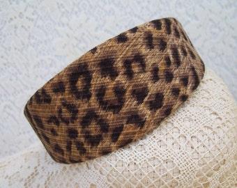Leopard Headband Wide