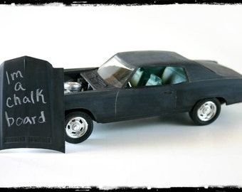 Chalkboard Car, Chevy Monte Carlo, Hot Rod, Writeable Surface Black wheels for him