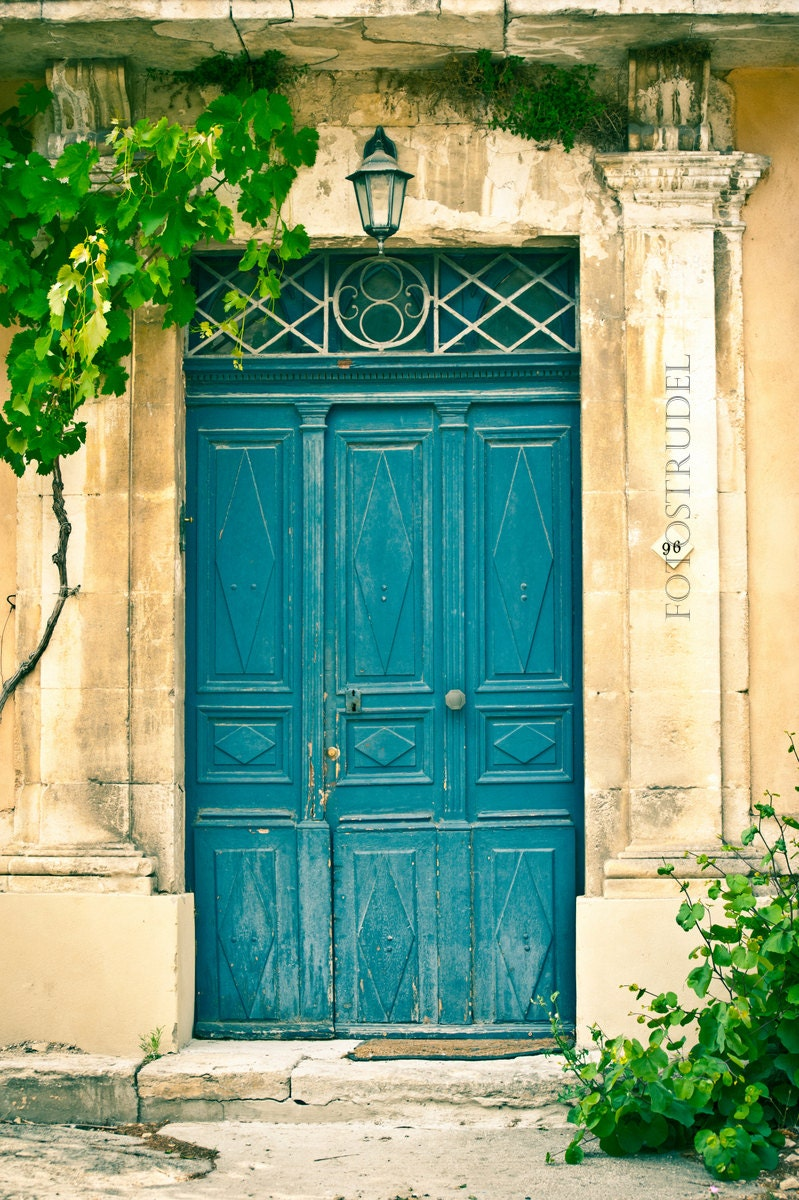 Provence french country france photograph the turquoise door for French country front door