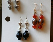Earrings on a Library Catalog Card FREE SHIPPING