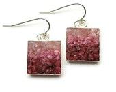 Mosaic Jewelry - Pink Opal, Rhodochrosite and Jade Drop Earrings
