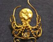 Bronze Octopus Cuff