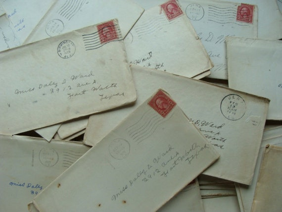 Antique Handwritten Lot of Love Letters from Rip to Miss Dolly