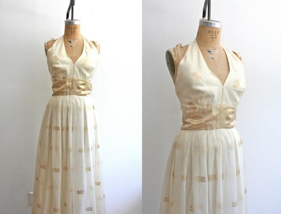 70s dress : Goddess Maxi