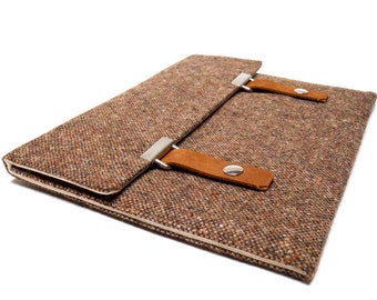 "13"" Macbook Air / MacBook Pro case - brown tweed"