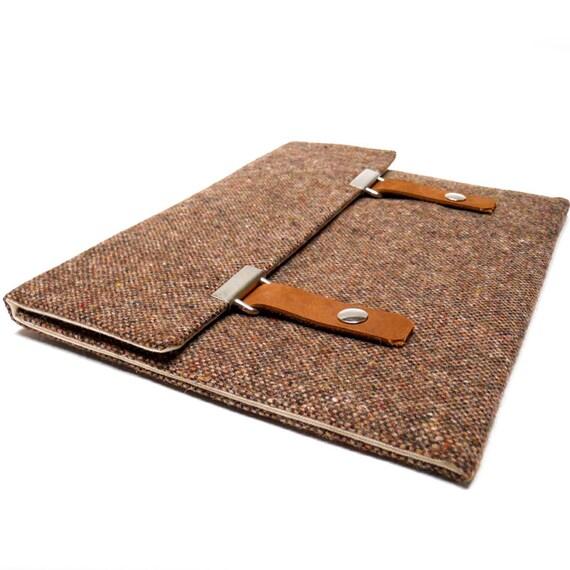 """13"""" Macbook Air / MacBook Pro case - brown tweed"""