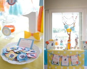 Little Man DOLJABI Korean First Birthday: Custom Silhouette, ABC Alphabet, Little Man, Bowtie DIY Party Package