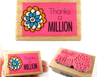 Thanks a Million - rubber stamp
