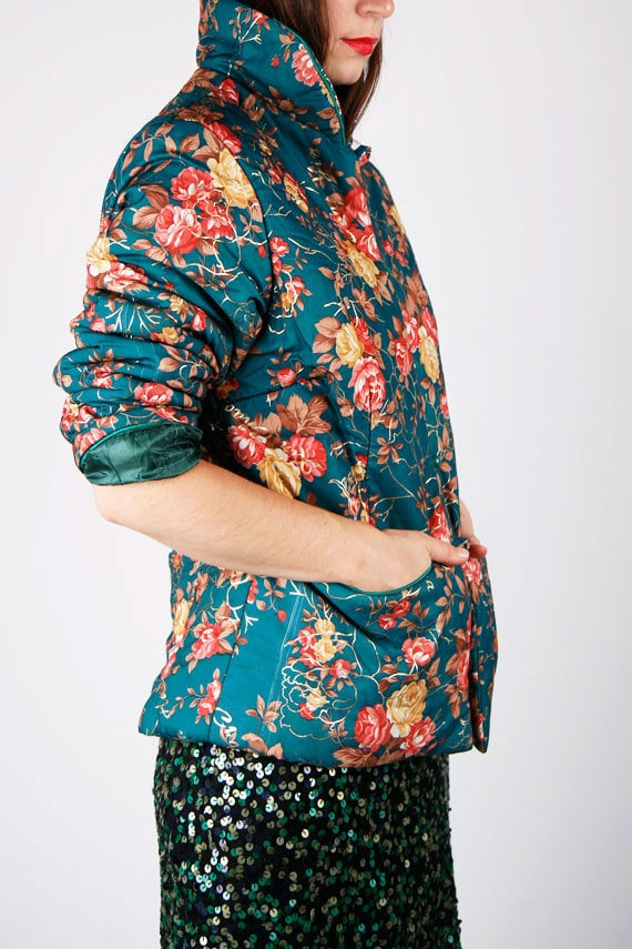 ON HOLD 80's Floral jacket for petite SM
