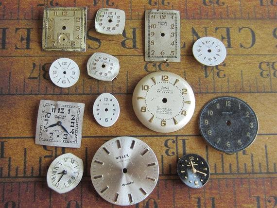 Vintage Antique Watch  Assortment Faces - Steampunk - Scrapbooking p74