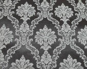 Vintage Brown brocade fabric,silky fabric,brocade fabric, brown fabric,brown brocade fabric,vintage brown fabric,