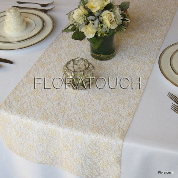 champagne lace table runner wedding table runner