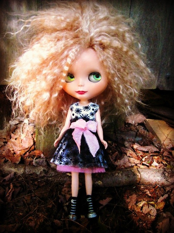 Blythe Black and White Cotton Dress
