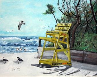 Jersey Shore Off Duty-Original- 11x14