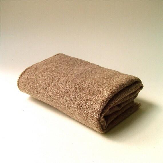 vintage Marled Mocha Brown Wool Scarf