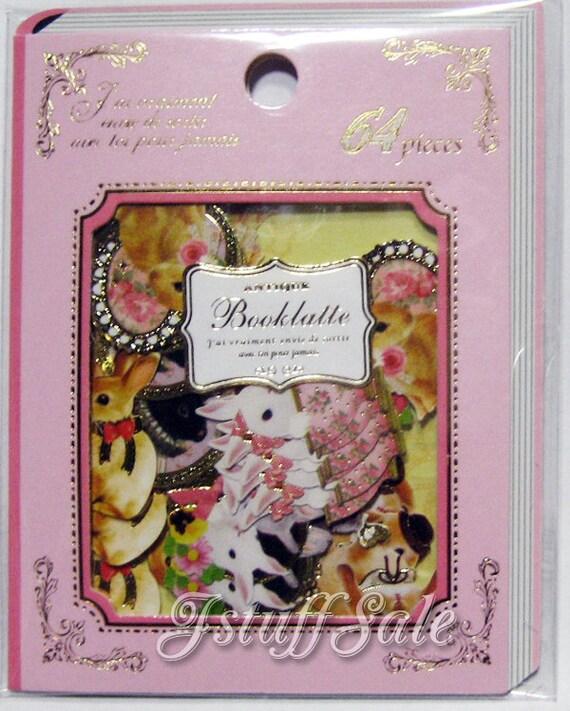 Qlia Booklatte sticker sack 64 pieces (Bunnies)