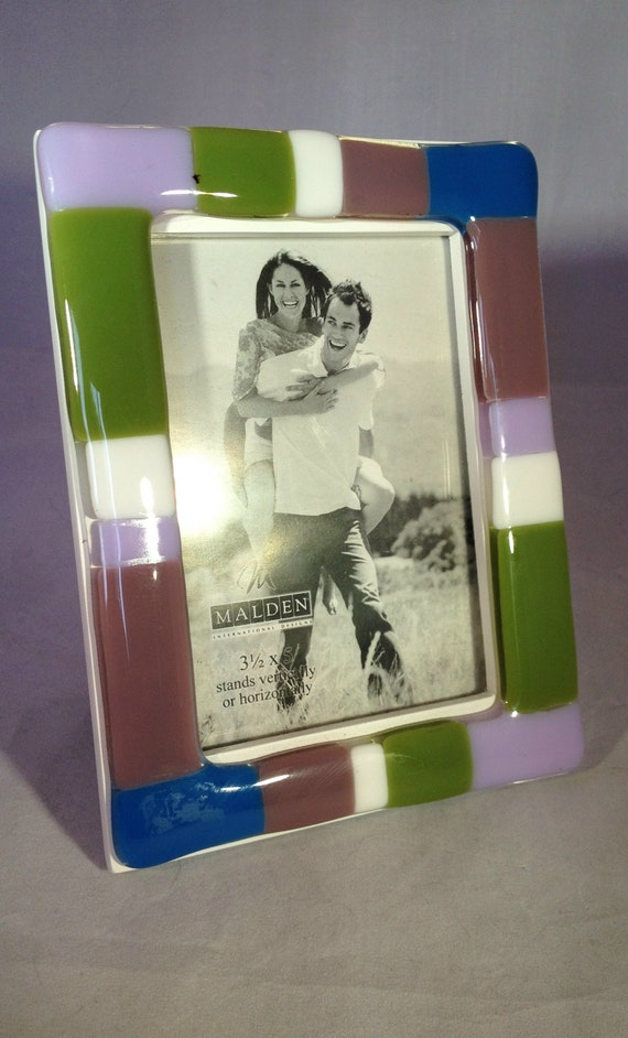 "Fused Glass 3 1/2"" x 5"" Picture Frame"