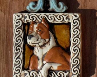 Pit Bull / Am-Staff Art Tile - Debra Bacianga