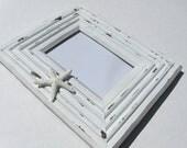 Housewares Cottage Beach Photo Frame Whitewashed Wood Starfish