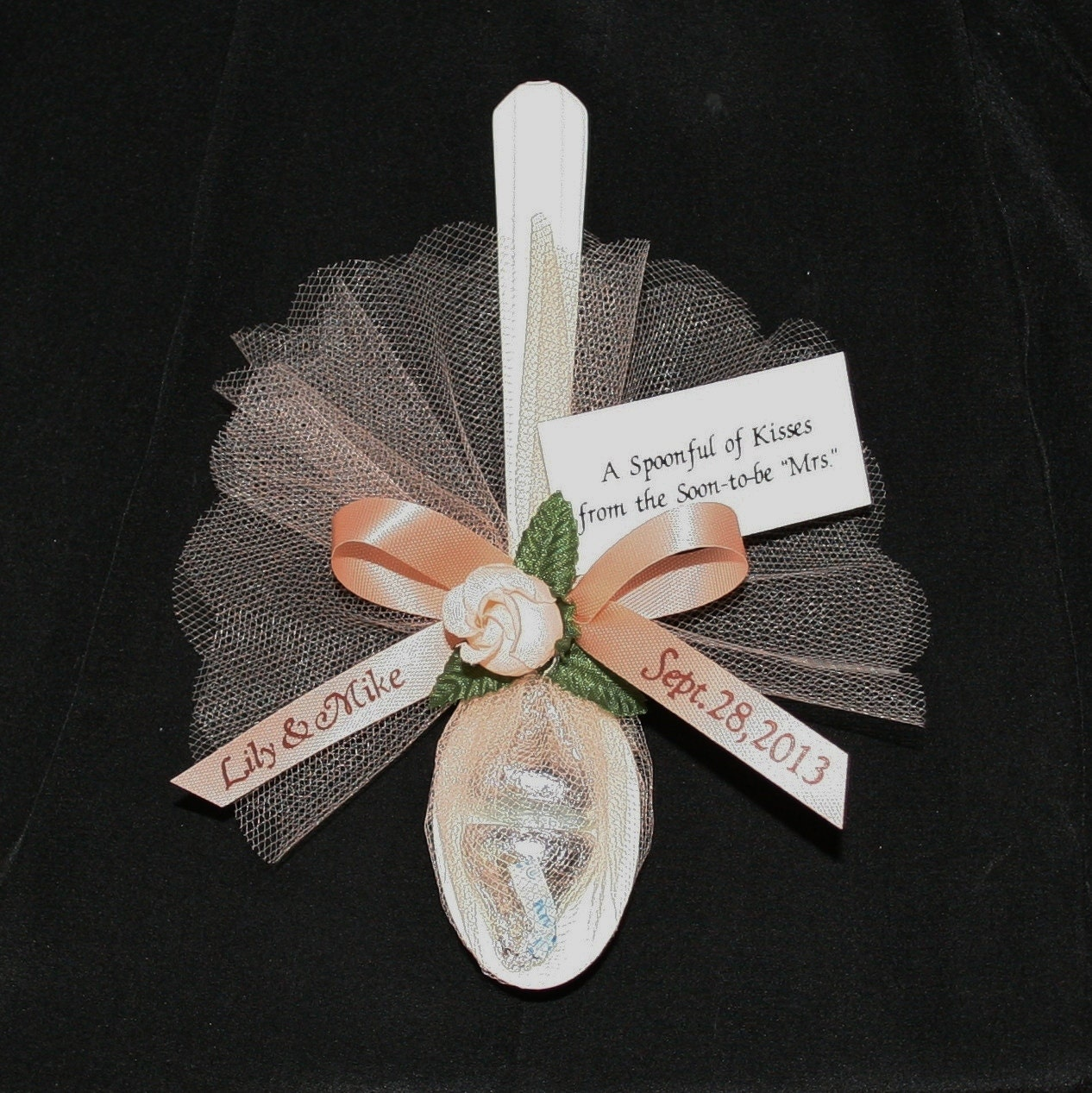 Personalized Favors Spoonful Of Kisses For
