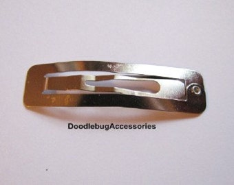 100 50mm Rectangular (2 Inch) Lead Free Snap Clips