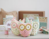 Three Hooting Owls - A Simple DIY Sewing Craft Kit For Beginners, Ideal for Children & Adults