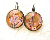 Cherry Blossom Earrings Traditional Japanese SALE