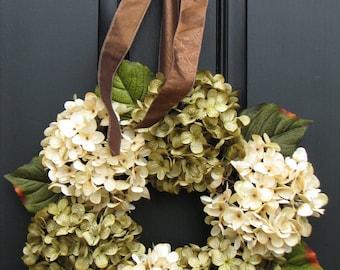 Fall Hydrangeas, Hydrangea Wreaths, Wreaths, Hydrangea Wreath, Wreaths for All Seasons, Twoinspireyou