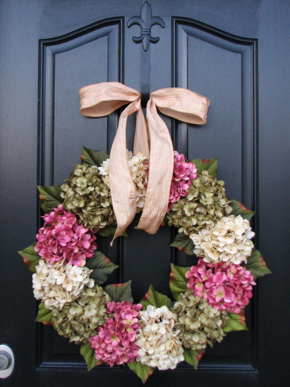 Spring Hydrangea Wreaths 22 Hydrangea Wreath Champagne