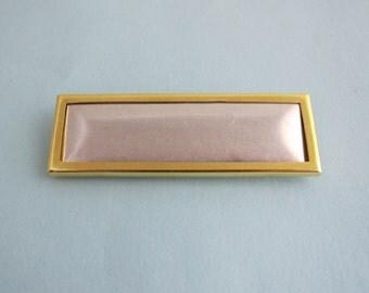 Gold Rectangular Pin Setting Frame Mounting 142GT