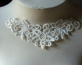 Lace Applique in Ivory Venise Lace made in the USA for Necklaces, Jewelry, Bridal, Costume Design SIA 513