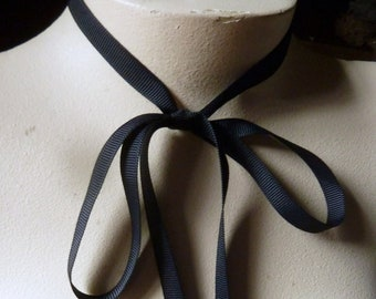 4 yds. Midnight Blue Ribbon Grosgrain 9mm wide Japanese for Bridal, Invitations, Tags, Sewing, Costumes