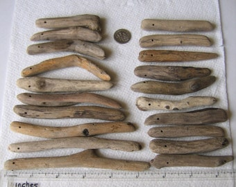 20 Natural Driftwood Large Beads Sticks Top Drilled 1.8mm holes Supplies (1428)