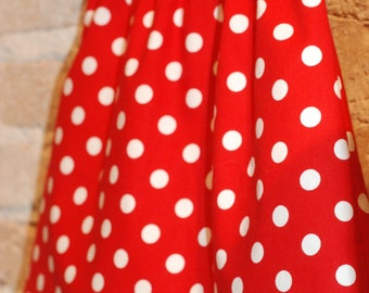 Red White Polkadots Modern A-line Skirt - modern toddler girls clothing - fall fashion - ready to ship - size 4/4T