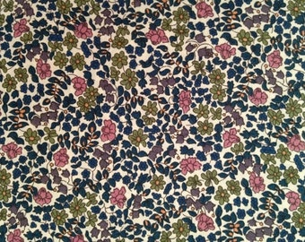 liberty of london-fat 1/4 - emilia's flowers - beige, pink, purple and green