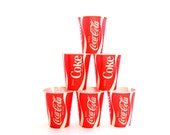 Vintage Coca Cola Cups - Waxed Paper Cups - Set of Six