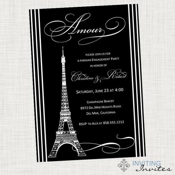 Paris Eiffel Tower Bridal Shower Invitation By Invitinginvites