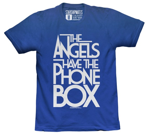 The Angels Have The Phone Box T-shirt White/Royal Blue Size Large