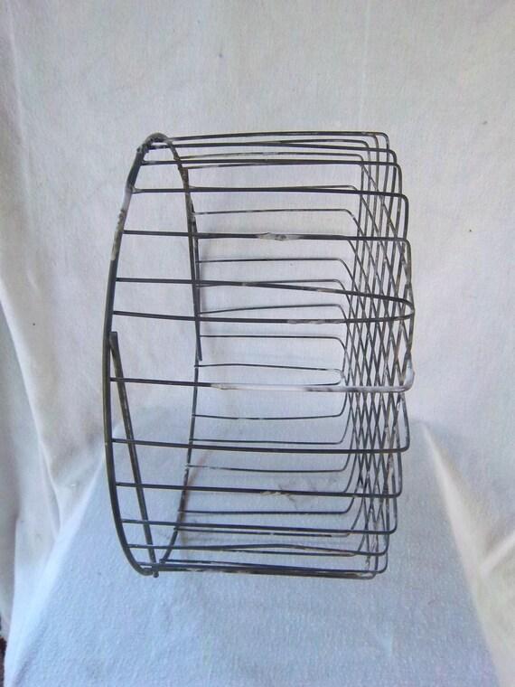 Vintage Large Solid Wire Half Bushel Utility/Book/Magazine Basket